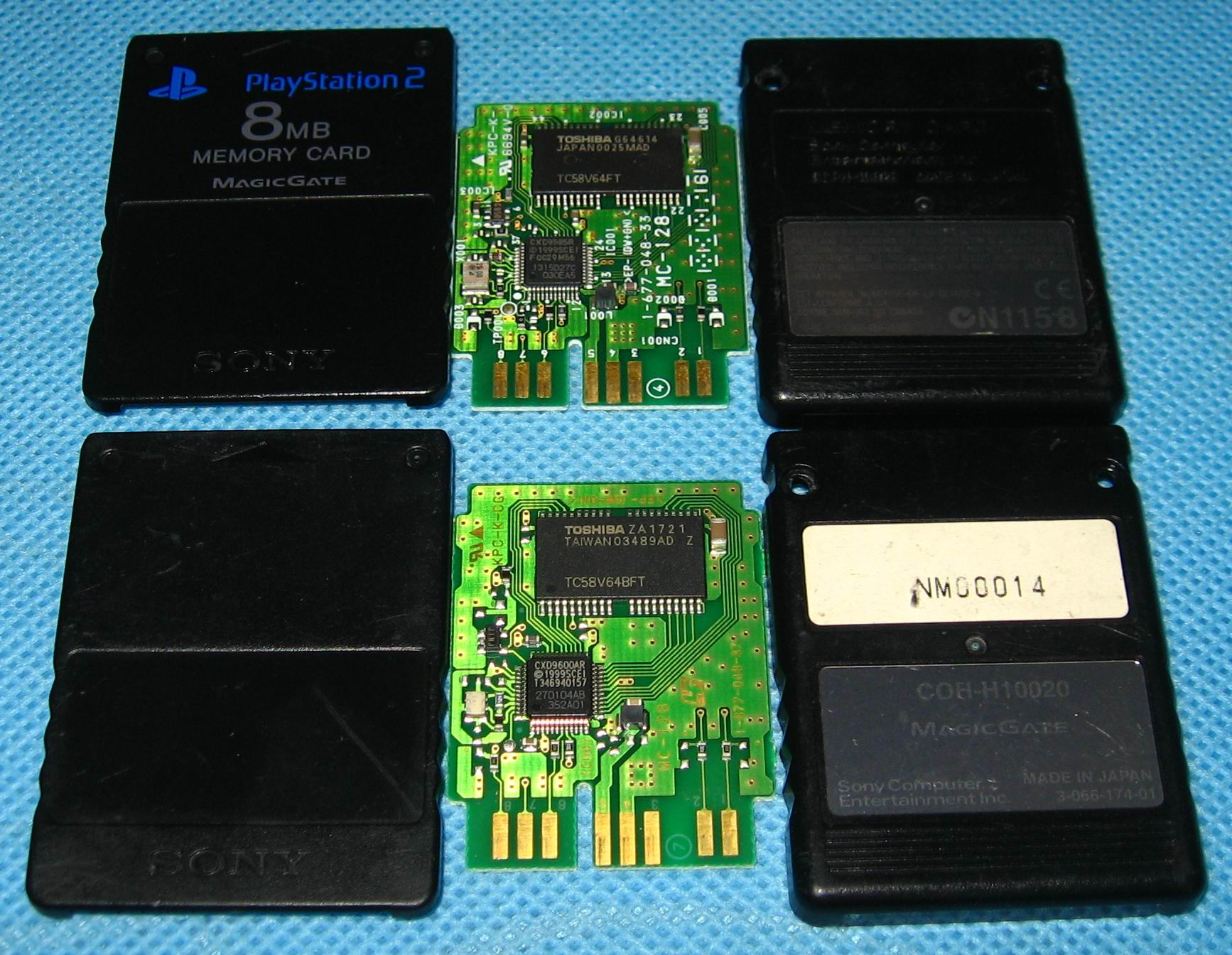 Original PS2 Memory Card & key MAGIC GATE (GameAutomat -TimeCrisis3)